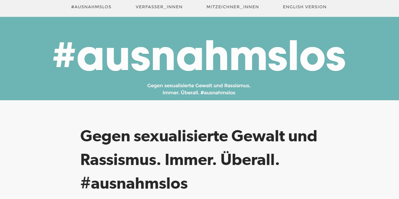 Screenshot der Seite ausnahmslos.org