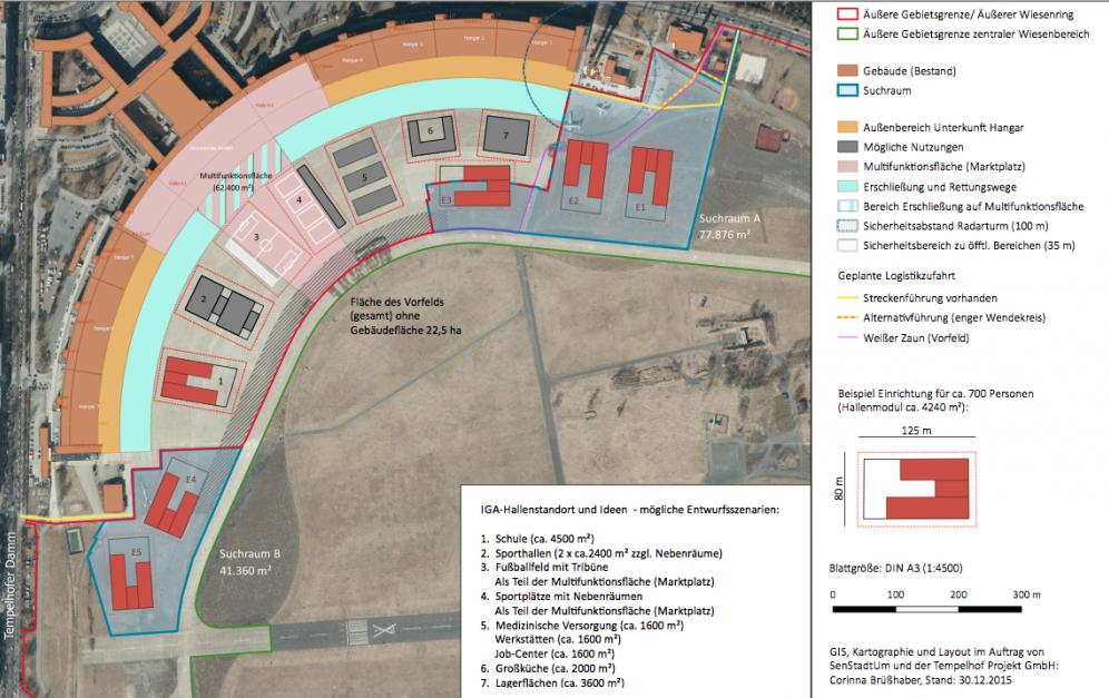 Bebauungspläne des Berliner Senats für das Tempelhofer Feld (Screenshot der Seite thf100.de)