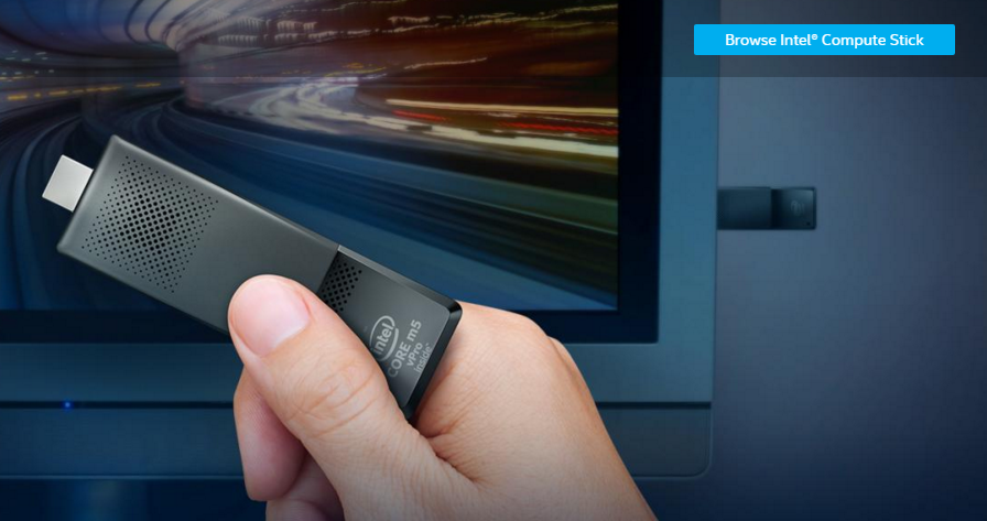 Der Intel Compute Stick (Screenshot von intel.com)