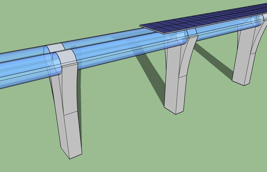 3D-Sketch einer Hyperloop-Strecke