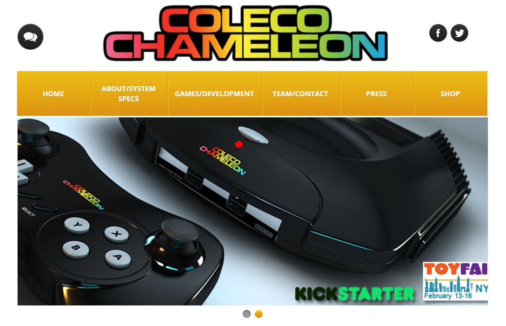 Design-Entwurf für das Coleco Chameleon (Screenshot von www.retrovgs.com)