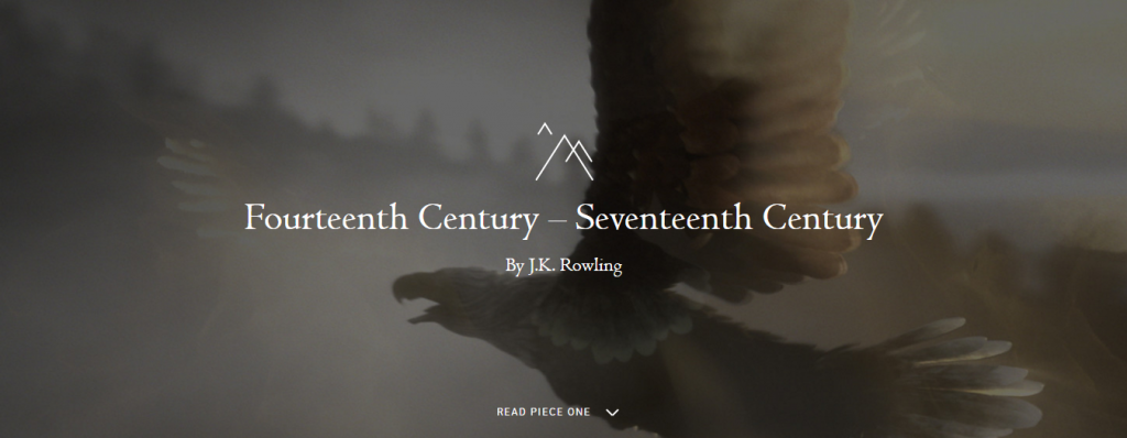 Screenshot von pottermore.com
