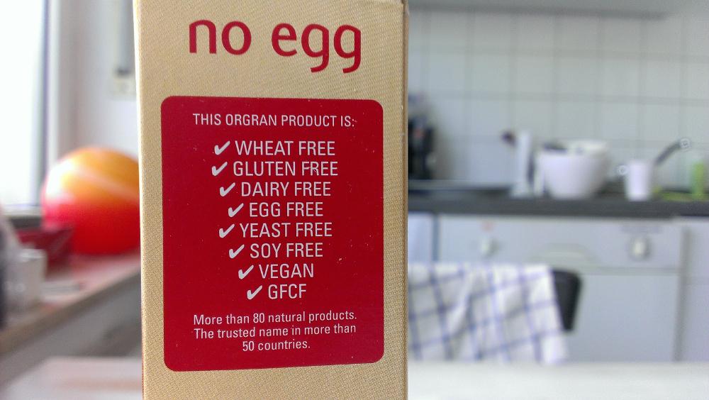 Eine No Egg-Packung (Foto: Robert Ott)