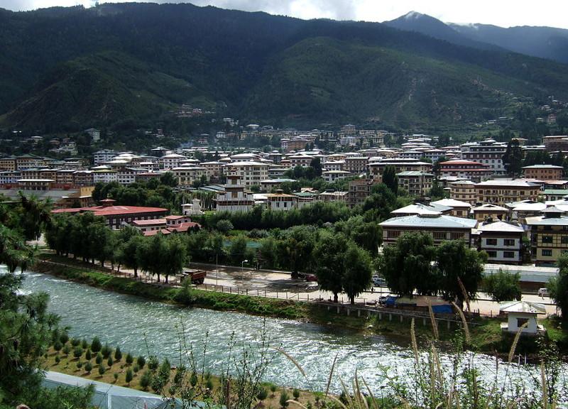 Thimpu, die Hauptstadt von Bhutan (Foto: Wikipedia-User Christopher Fynn)