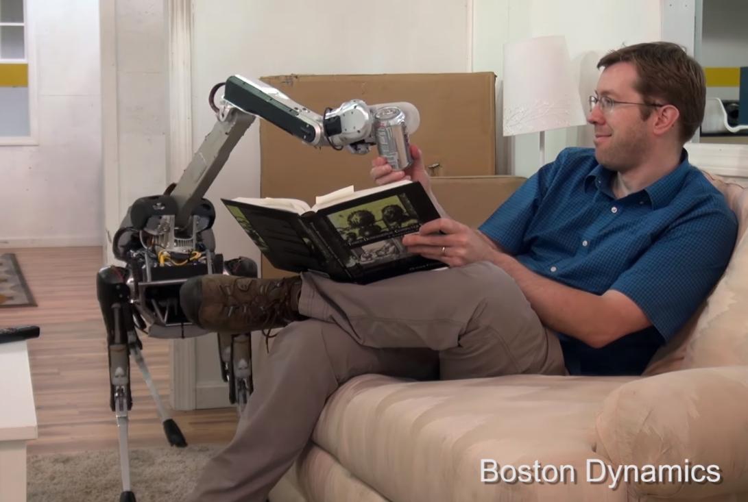 SpotMini, ein hundeähnlicher Roboter von Boston Dynamics (Screenshot von Youtube)