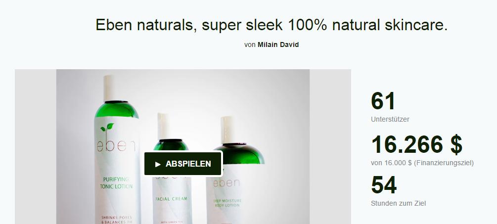 Die Eben Naturals-Hautpflegelinie