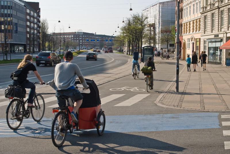 Fahrradverkehr in Kopenhagen (Foto: Volkentscheid Fahrrad/Norbert Michalke)