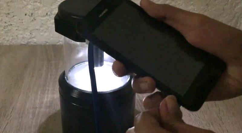 Ein Prototyp der Salt Lamp in Aktion (Screenshot von Vimeo)