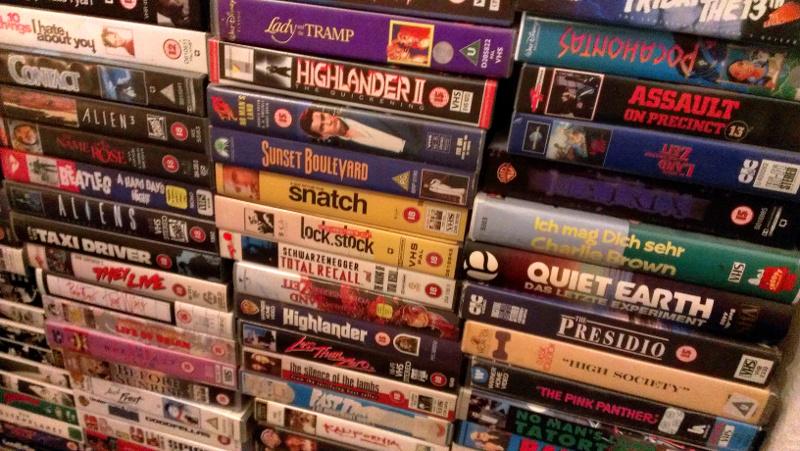 Ein Teil meiner VHS-Sammlung