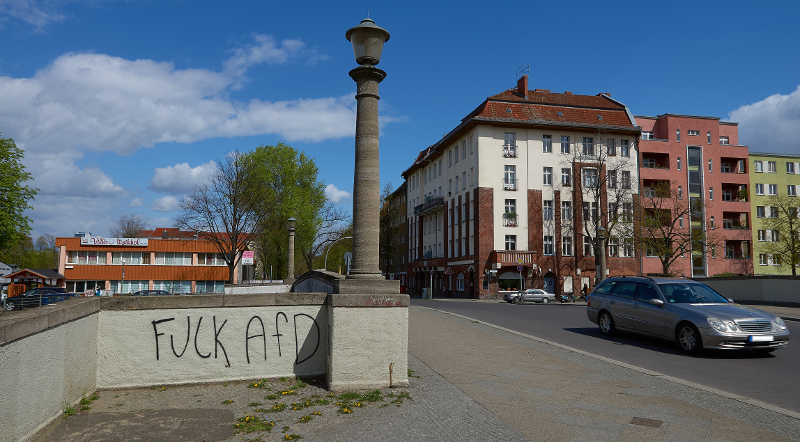 """Fuck AfD""-Graffiti in Berlin-Neukölln (Foto: Robert Ott)"