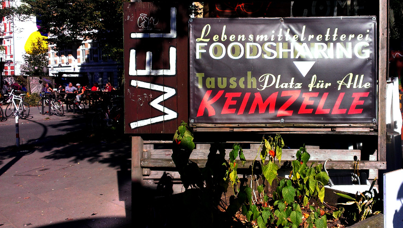 Eine lokale Foodsharing-Station in Hamburg (Foto: Robert Ott)
