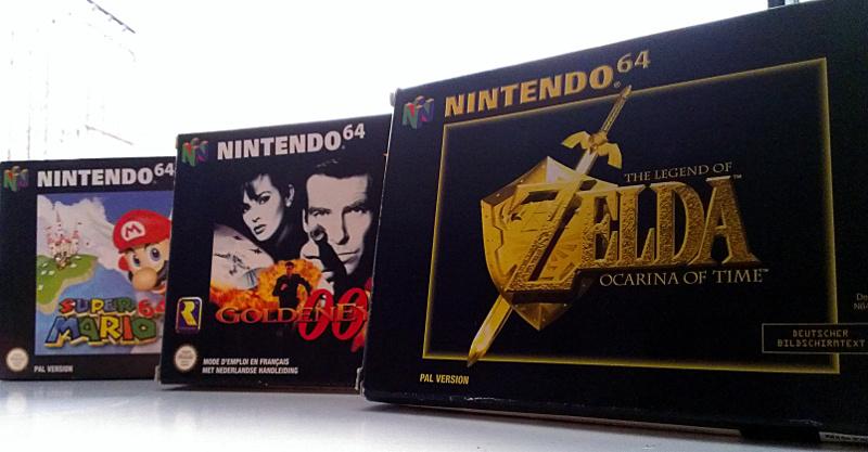 Die Dreifaltigkeit: Super Mario 64, Goldeneye 007 und Zelda: Ocarina of Time (Foto: Robert Ott)