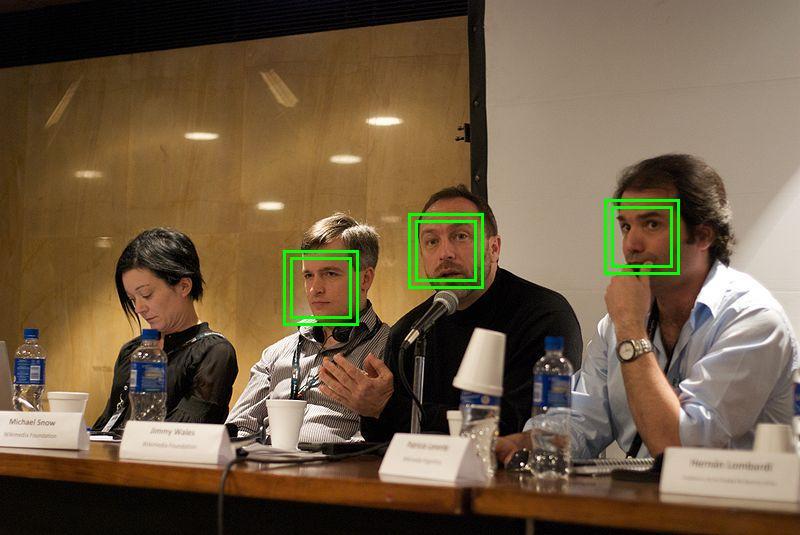 Beispiel für die Anwendung einer Gesichtserkennungs-Software (Foto: Sylenius, Lizenz: CC BY 2.0)