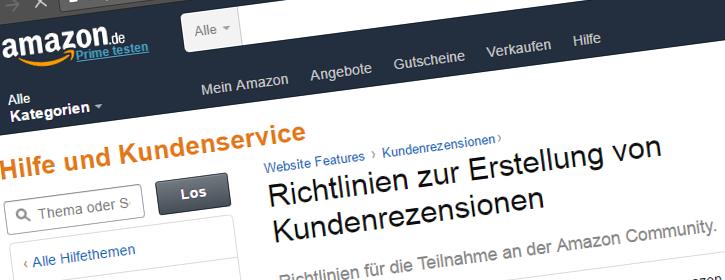 Haben ein Update bekommen: Amazons Bewertungsrichtlinien (Screenshot von amazon.de)