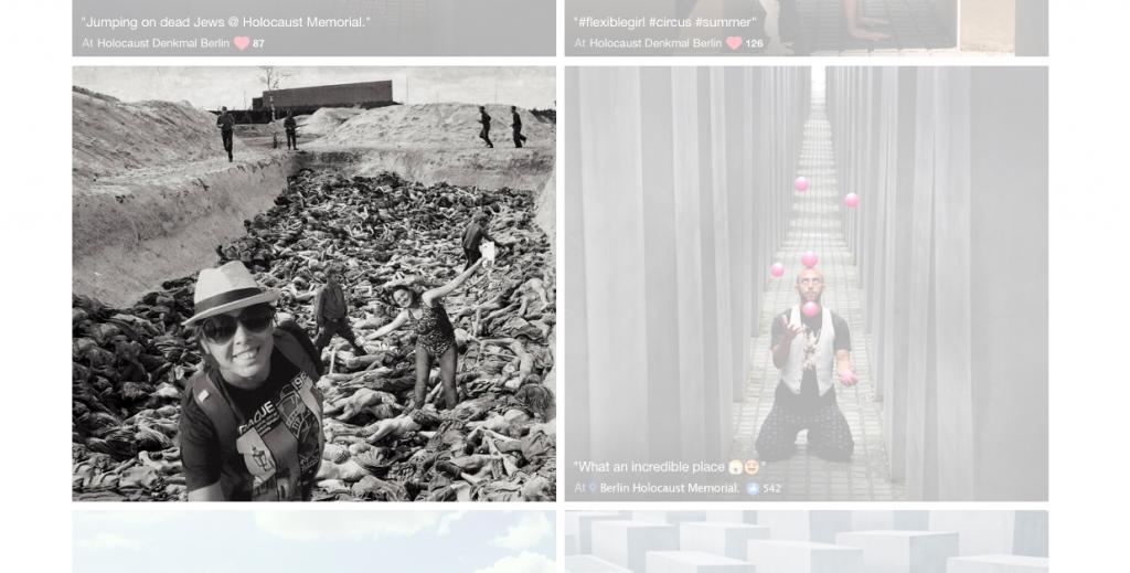 Eine der Fotomontagen (Screenshot von yolocaust.de)